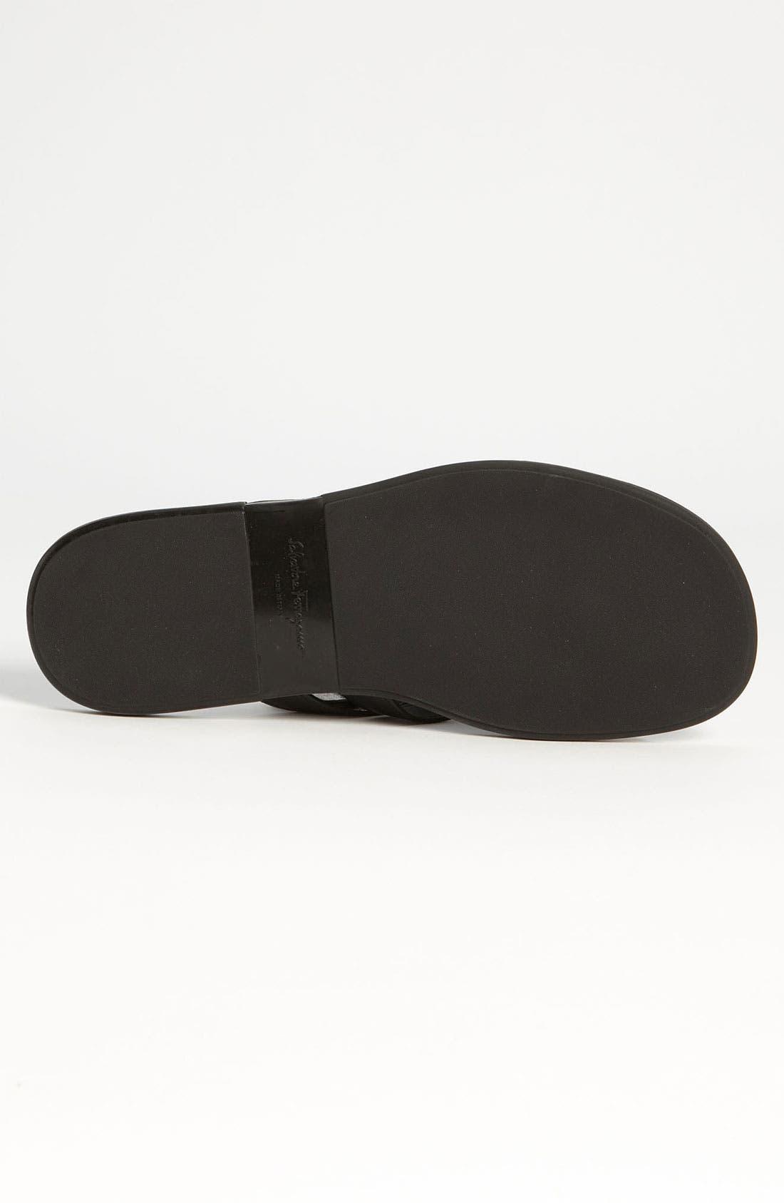 Alternate Image 4  - Salvatore Ferragamo 'Tirreno' Cross Strap Sandal