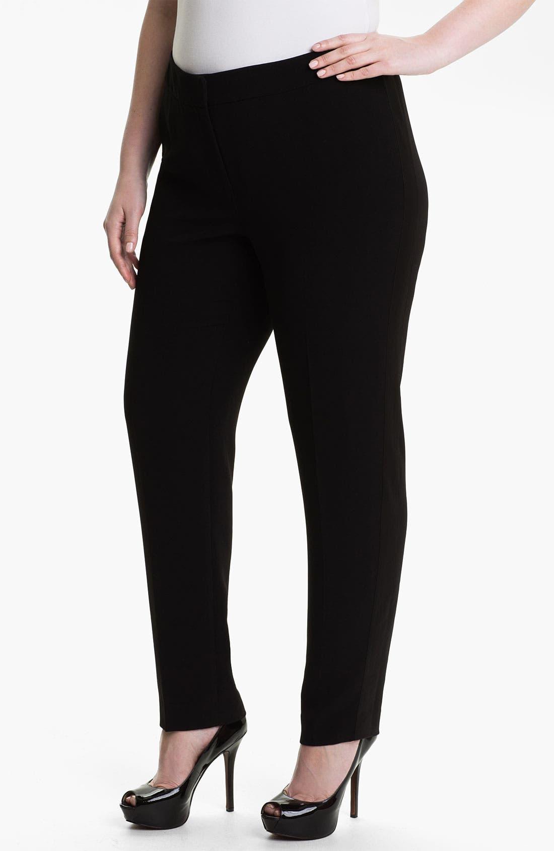 Alternate Image 1 Selected - Sejour 'Ava' Tuxedo Pants (Plus)