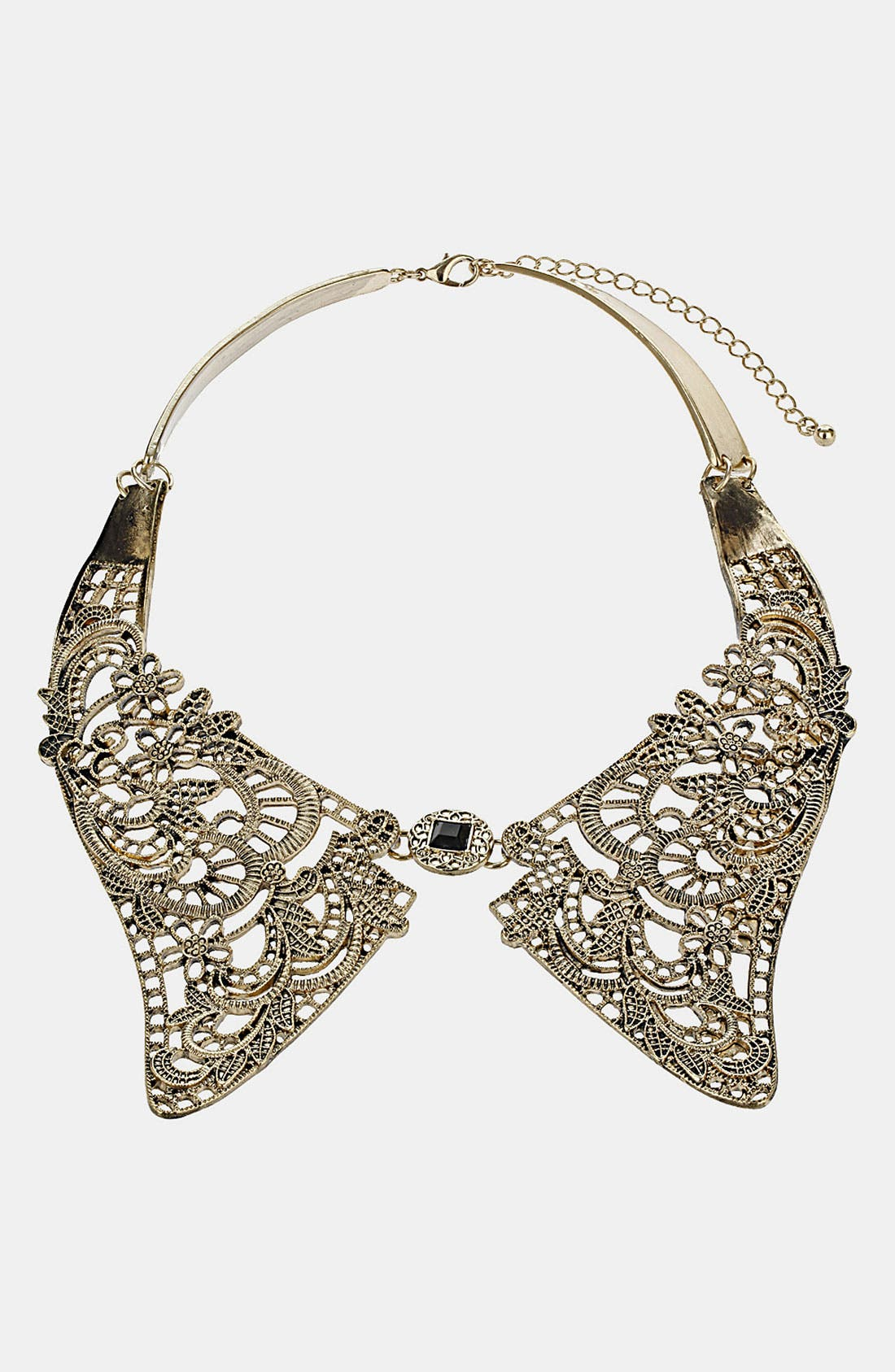 Main Image - Topshop Metal Lace Collar Necklace