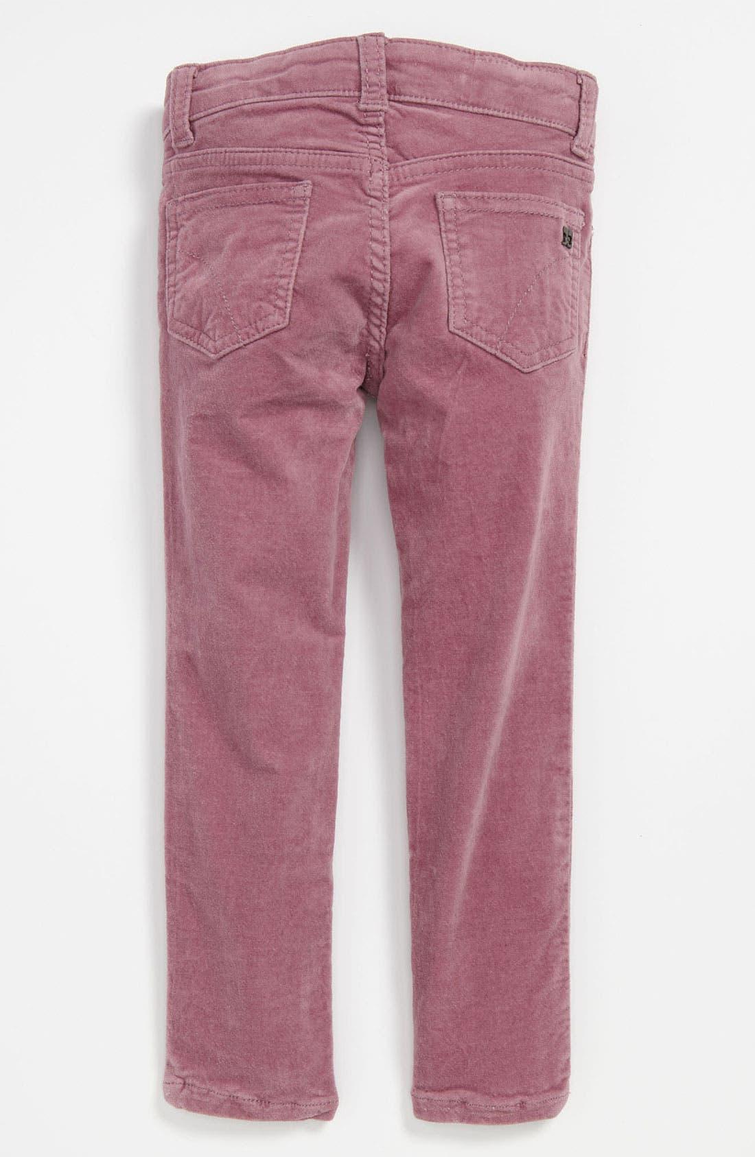 Main Image - Joe's Solid Strech Velvet Denim Pants (Toddler)
