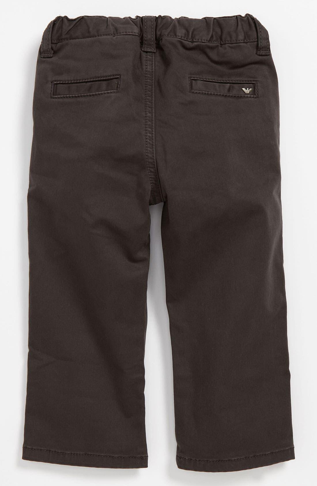 Main Image - Armani Junior Skinny Leg Pants (Infant)