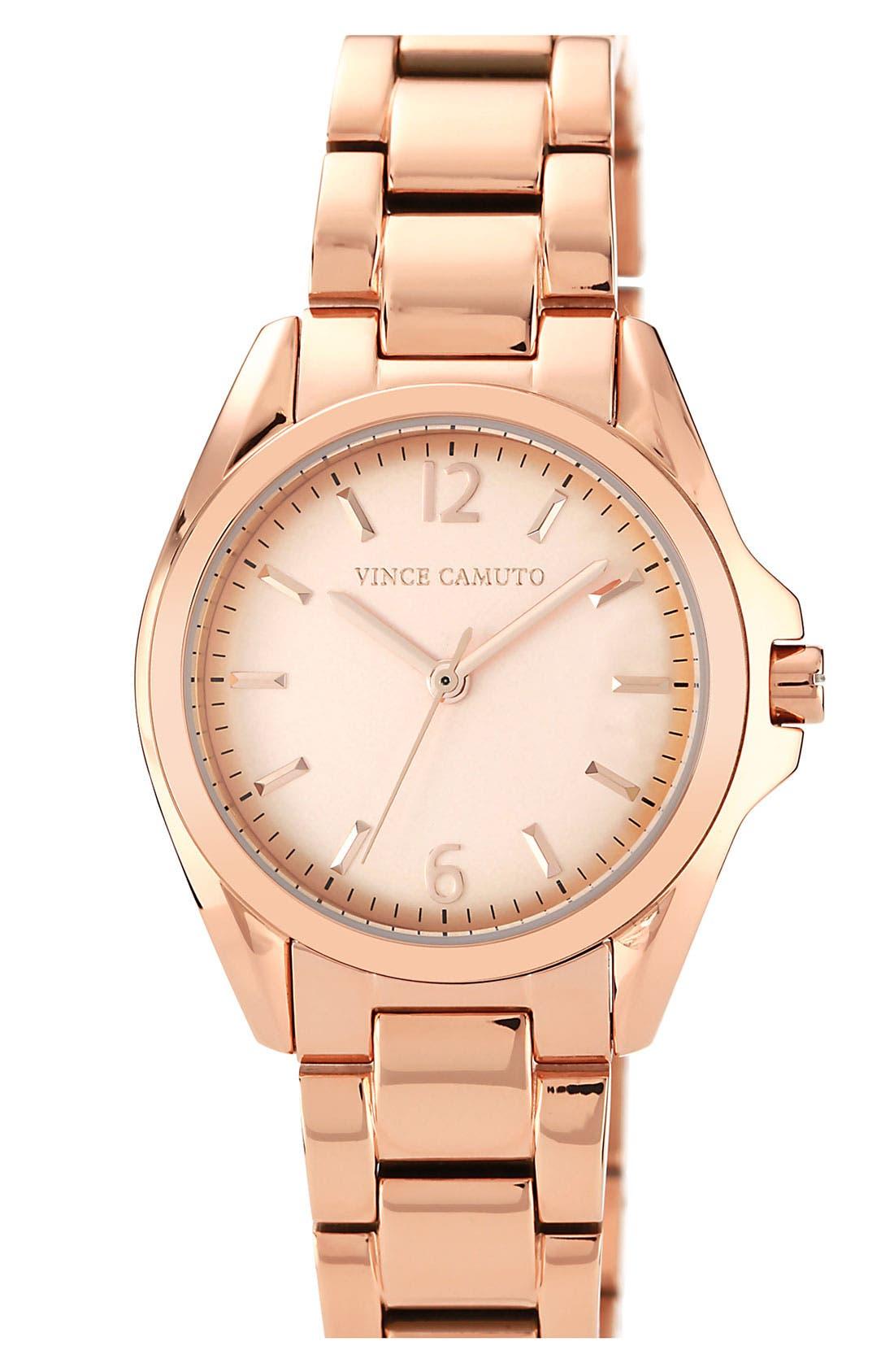 Alternate Image 1 Selected - Vince Camuto Curved Crystal Bracelet Watch, 32mm