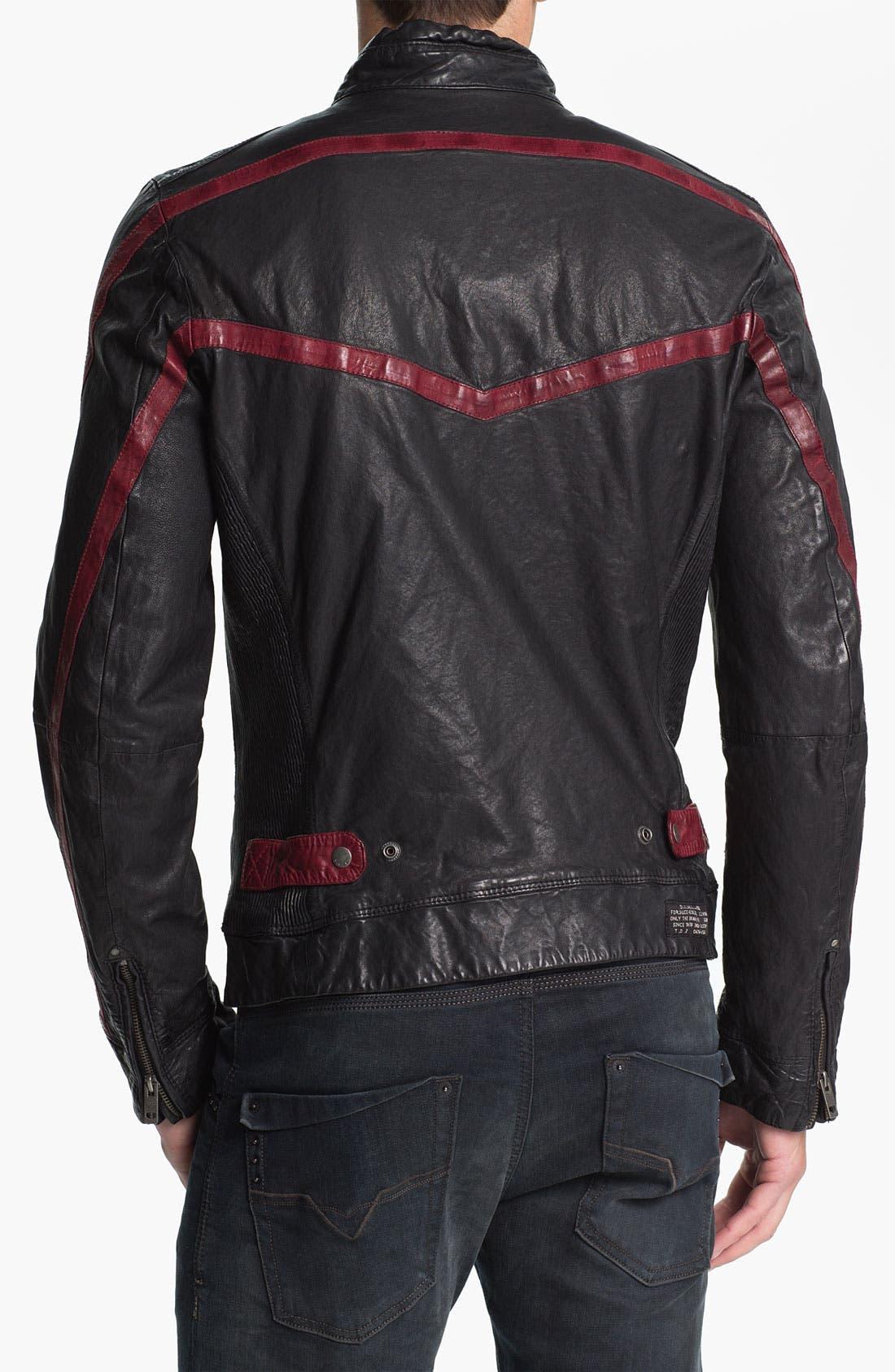 Alternate Image 2  - DIESEL® 'Liris' Leather Jacket