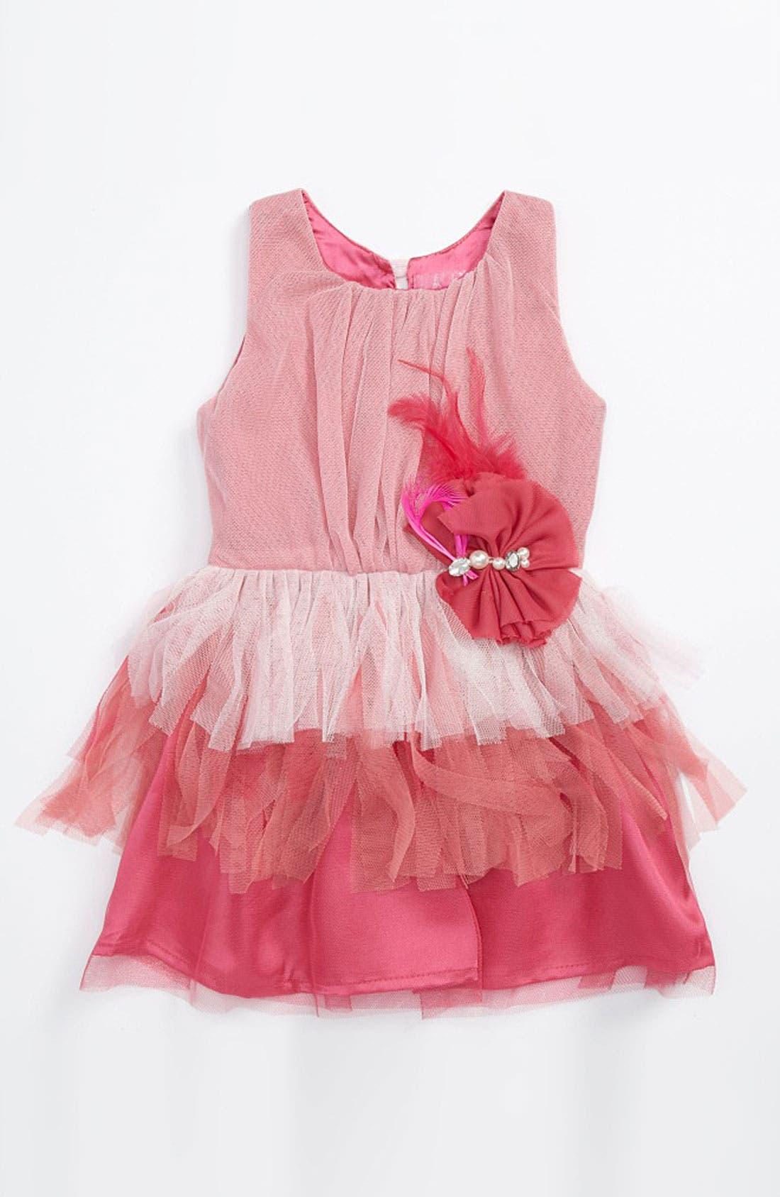 Main Image - Le Pink 'Valentina' Dress (Toddler)