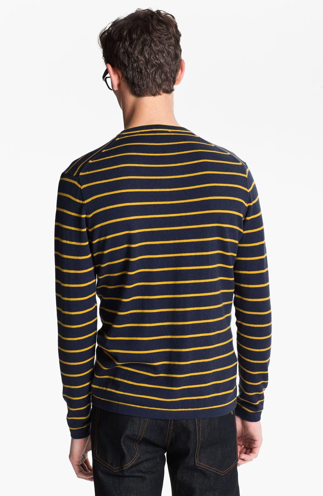 Alternate Image 2  - Cardigan by Lynne Hiriak 'Serge' Merino Wool V-Neck Sweater