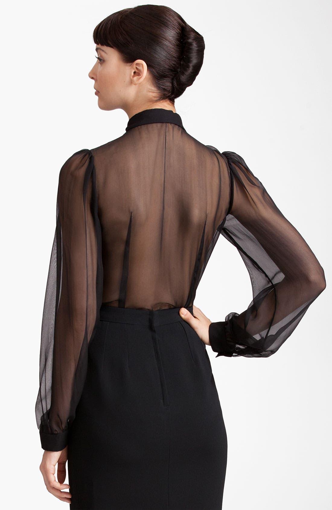 Alternate Image 2  - Dolce&Gabbana Sheer Chiffon Blouse