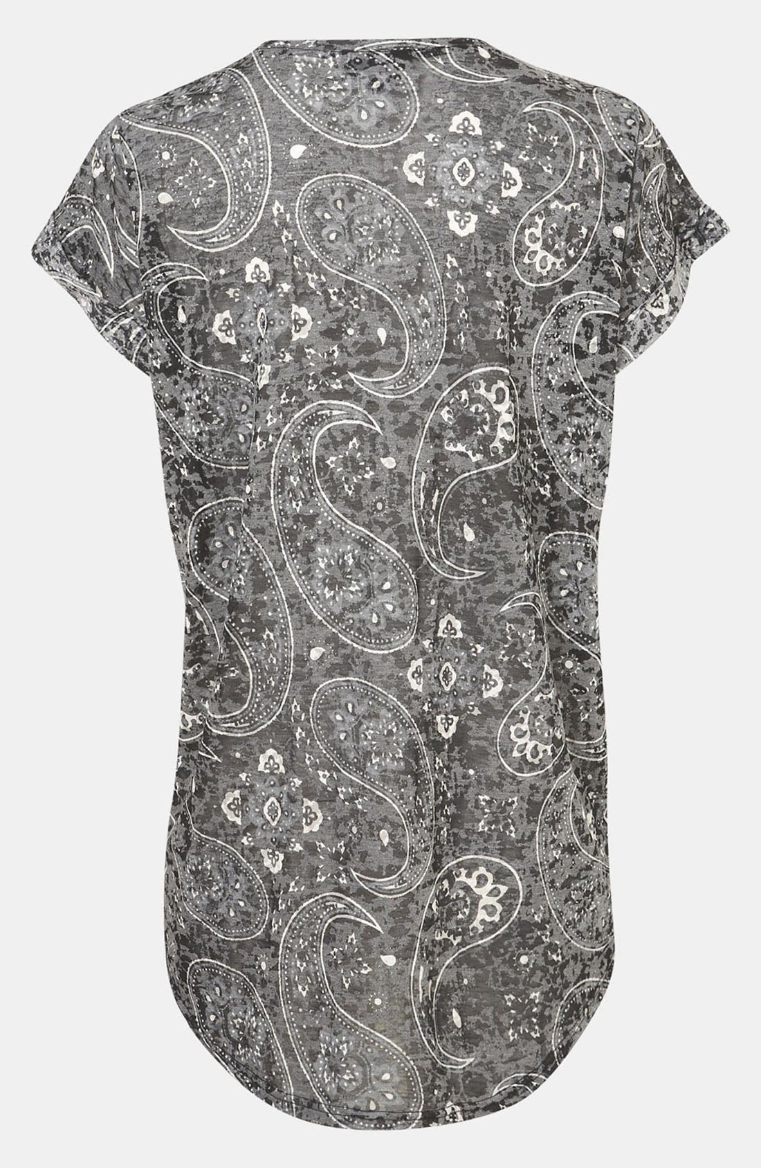 Alternate Image 3  - Topshop 'Bold' Paisley Burnout  Maternity Tee