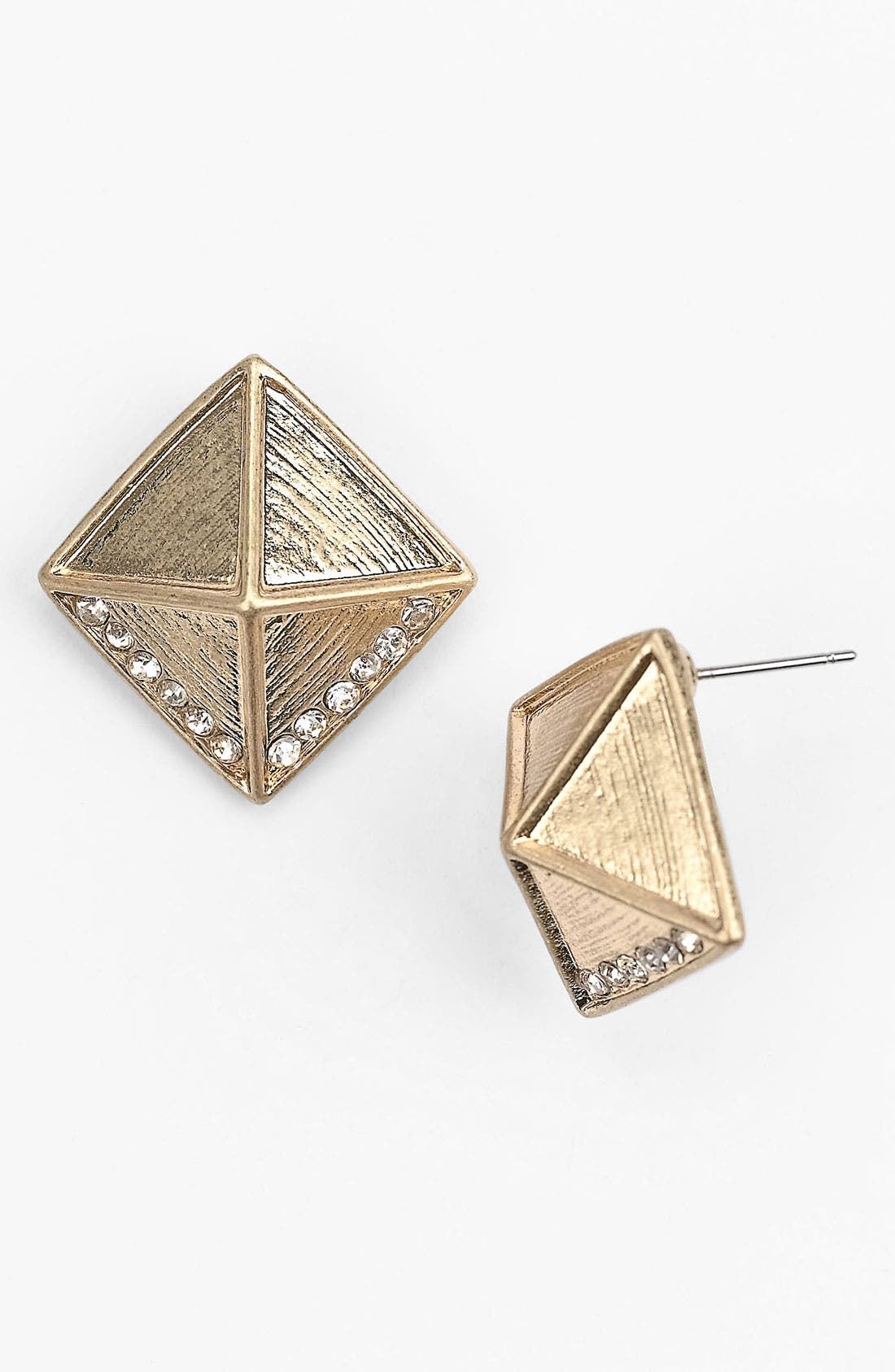 Main Image - BP. Rhinestone Pyramid Stud Earrings