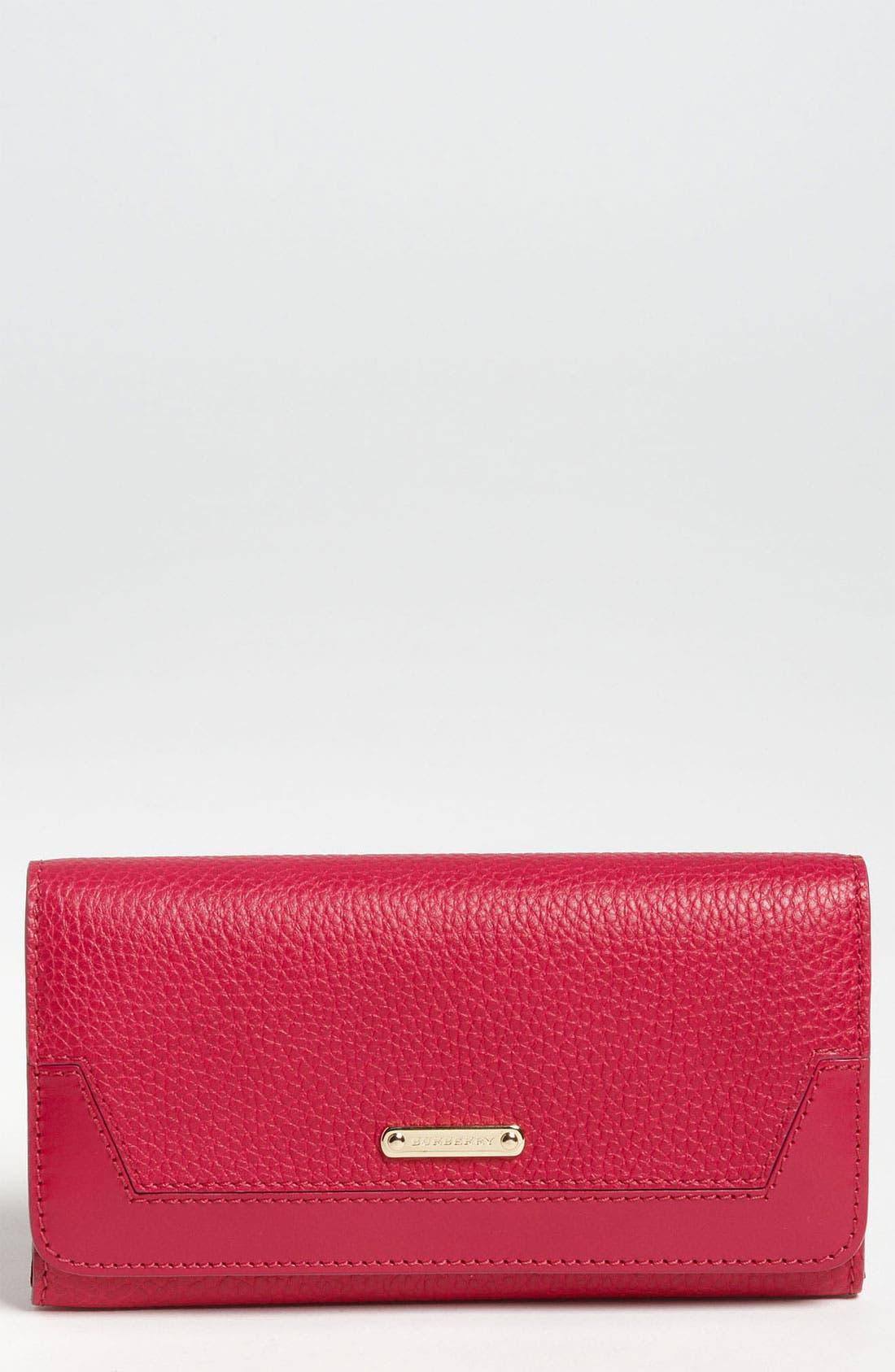 Main Image - Burberry 'London Grainy' Flap Wallet