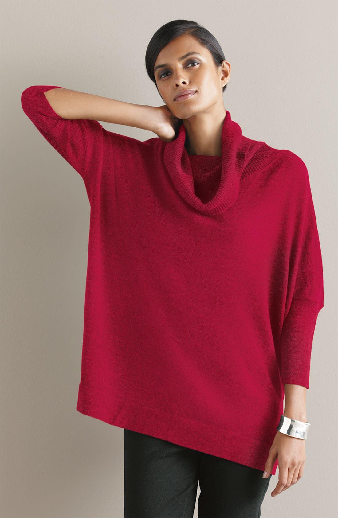 Alternate Image 2  - Eileen Fisher Funnel Neck Wool Jersey Top