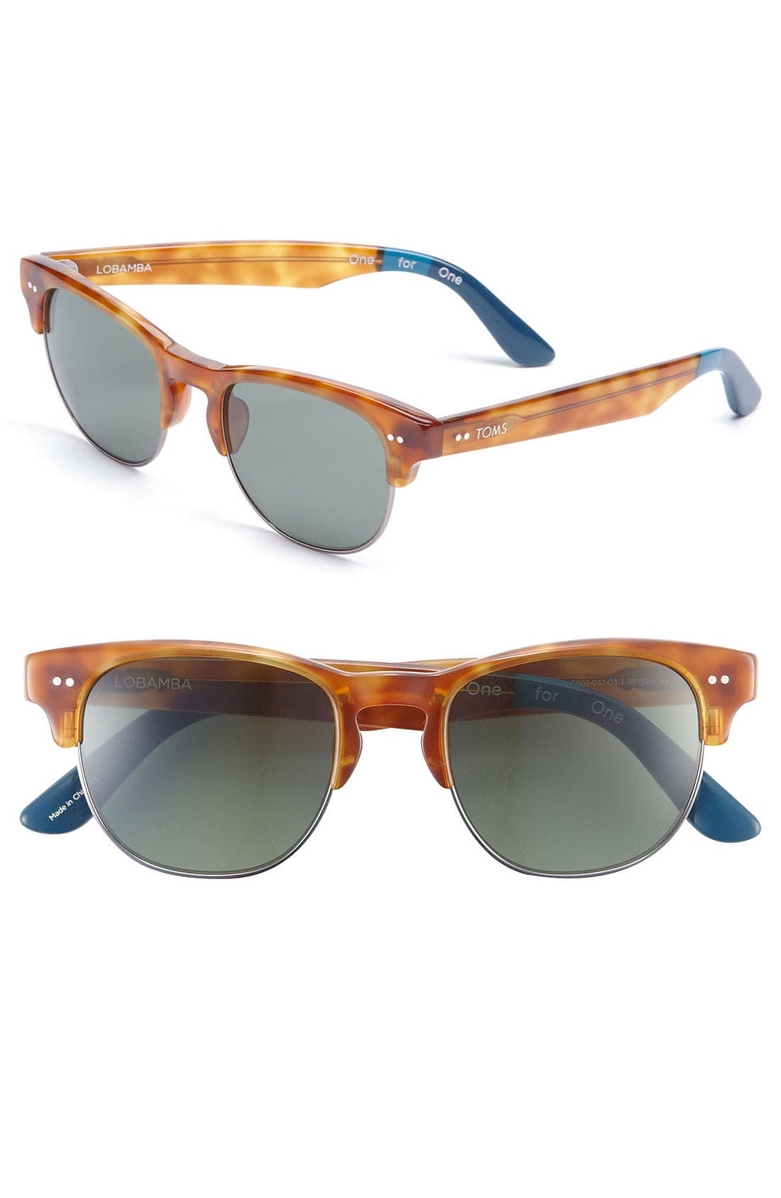Alternate Image 1 Selected - TOMS 'Modern' Retro 50mm Sunglasses