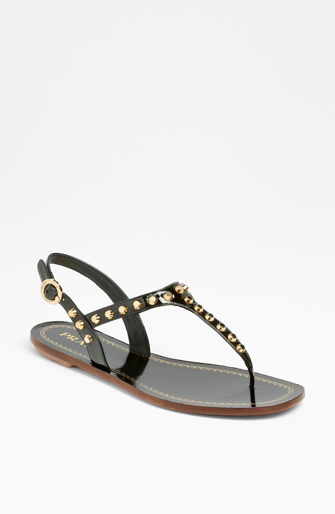 Main Image - Prada Studded Thong Sandal