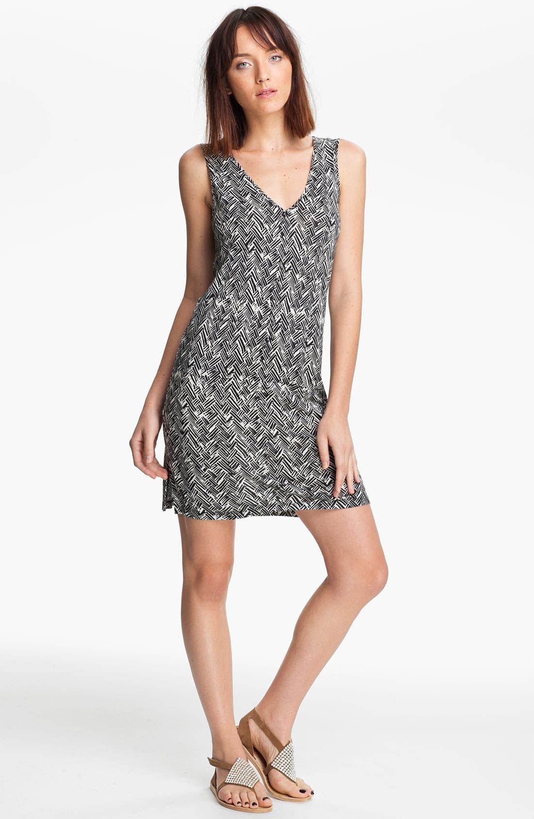 Alternate Image 1 Selected - Thakoon Carbon Copy Basket Weave Print Knit Dress