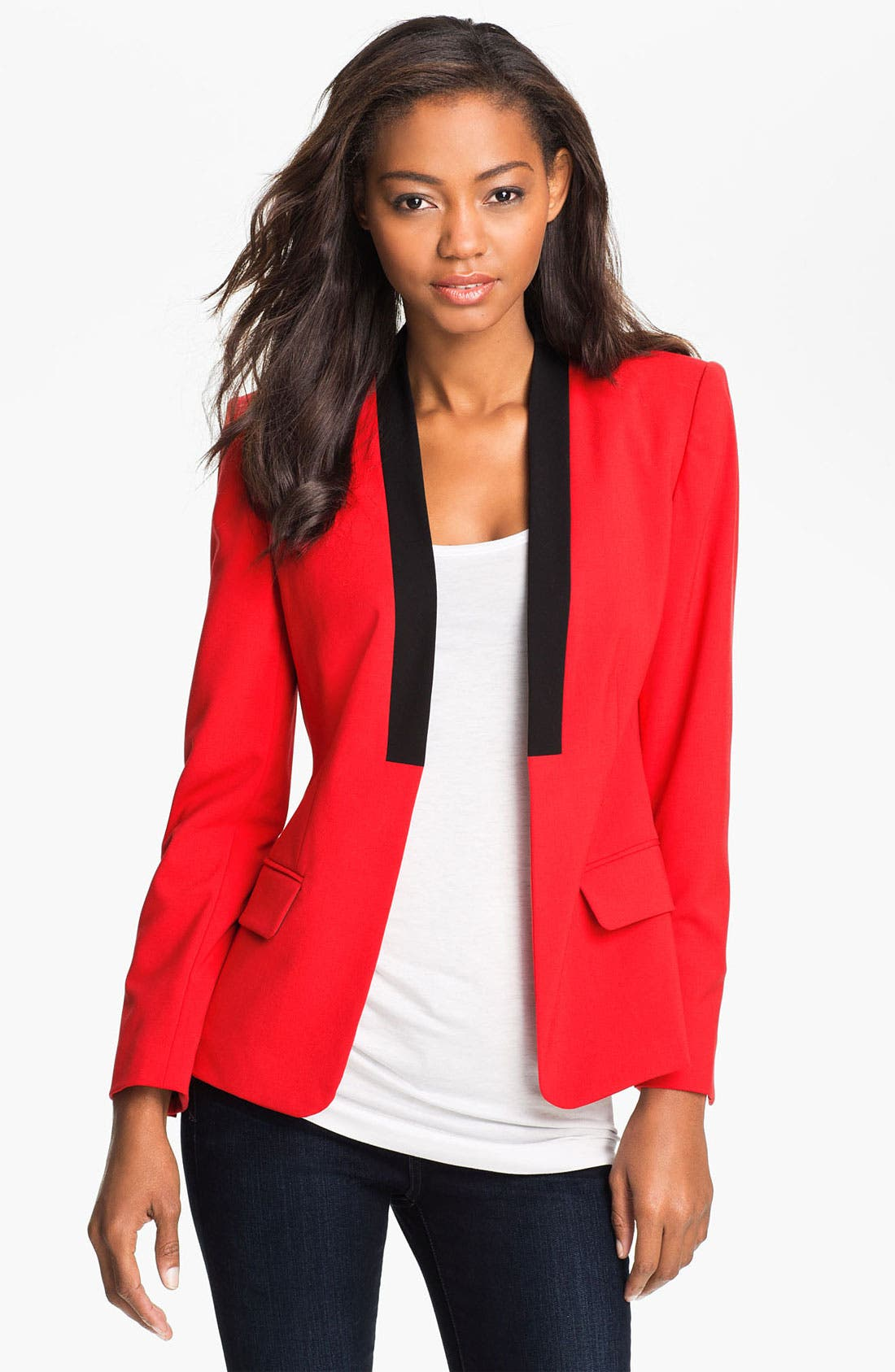 Alternate Image 1 Selected - Vince Camuto Contrast Trim Blazer