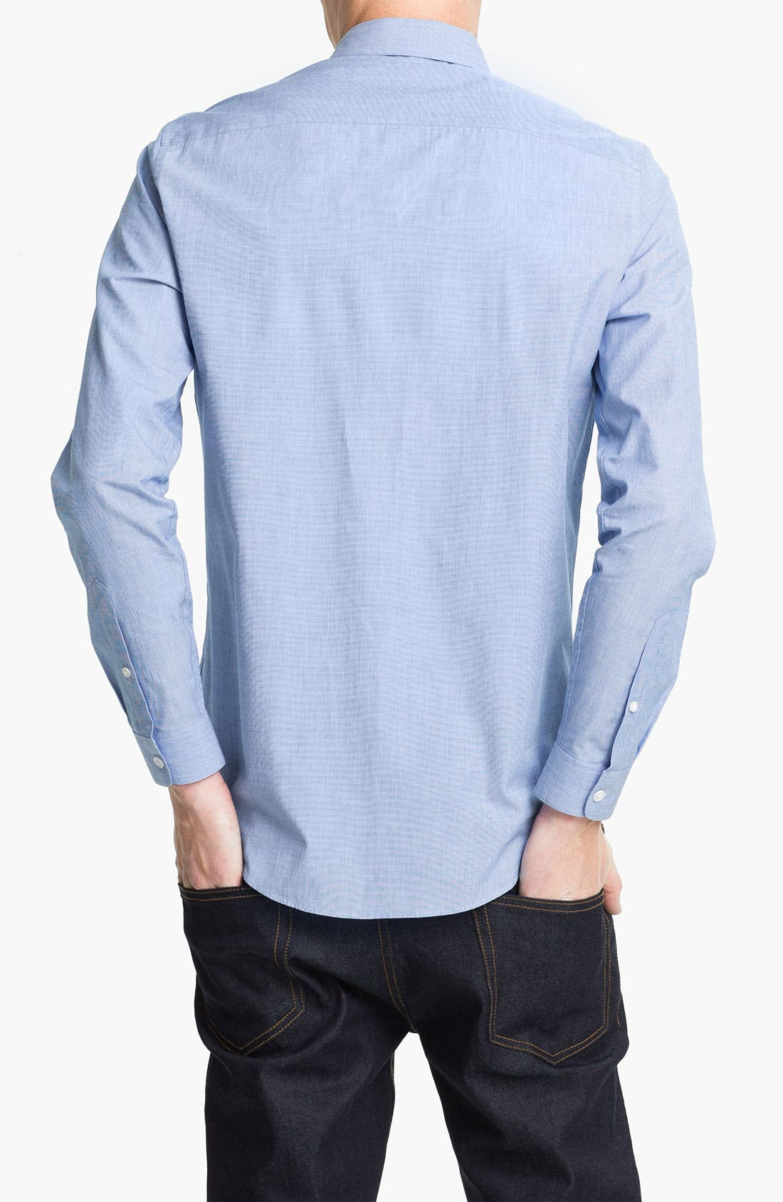 Alternate Image 2  - Topman Slim Fit End-on-End Woven Dress Shirt