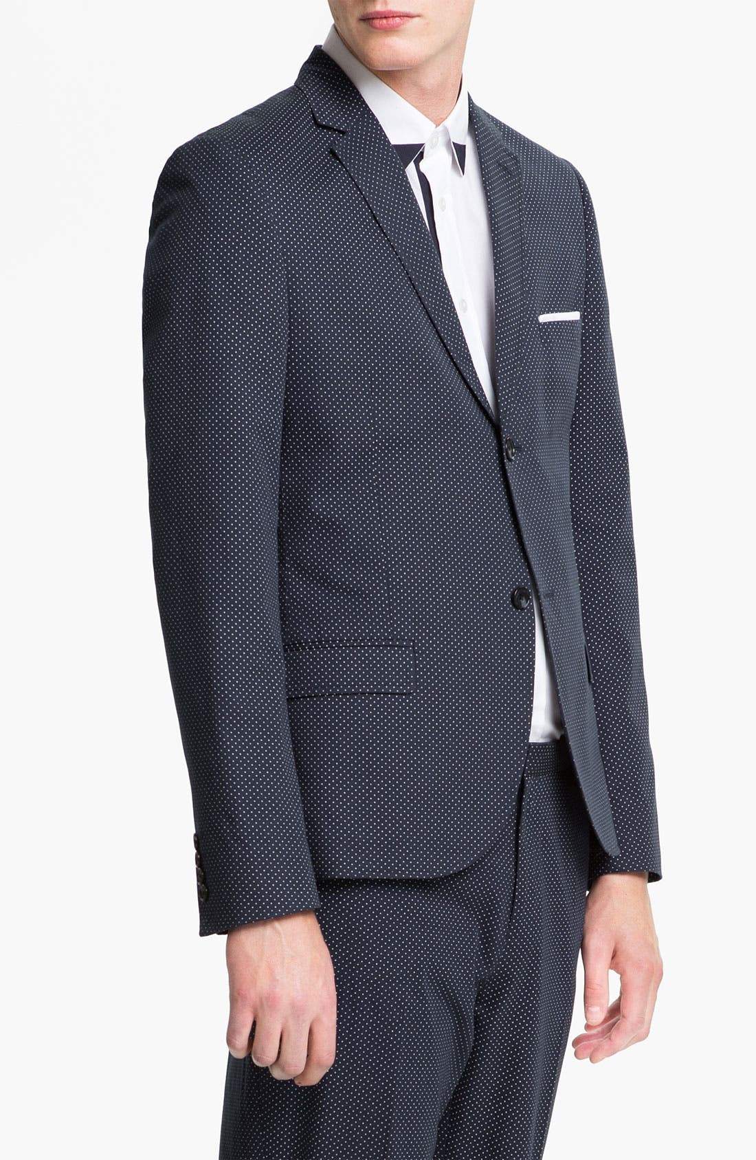 Alternate Image 1 Selected - Topman Pin Dot Skinny Fit Blazer