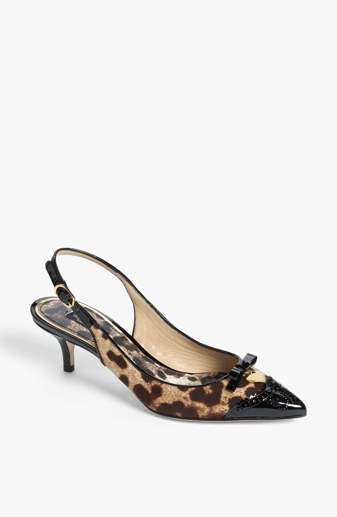 Alternate Image 1 Selected - Dolce&Gabbana Leopard Print Pump