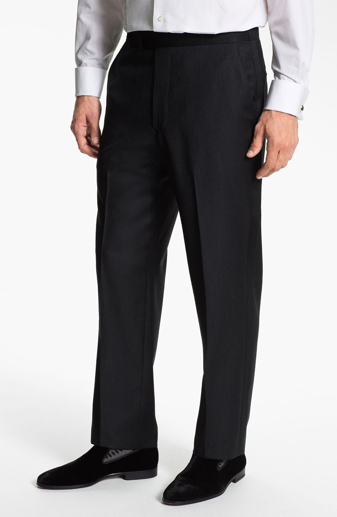 Main Image - Samuelsohn Stripe Tuxedo Trousers