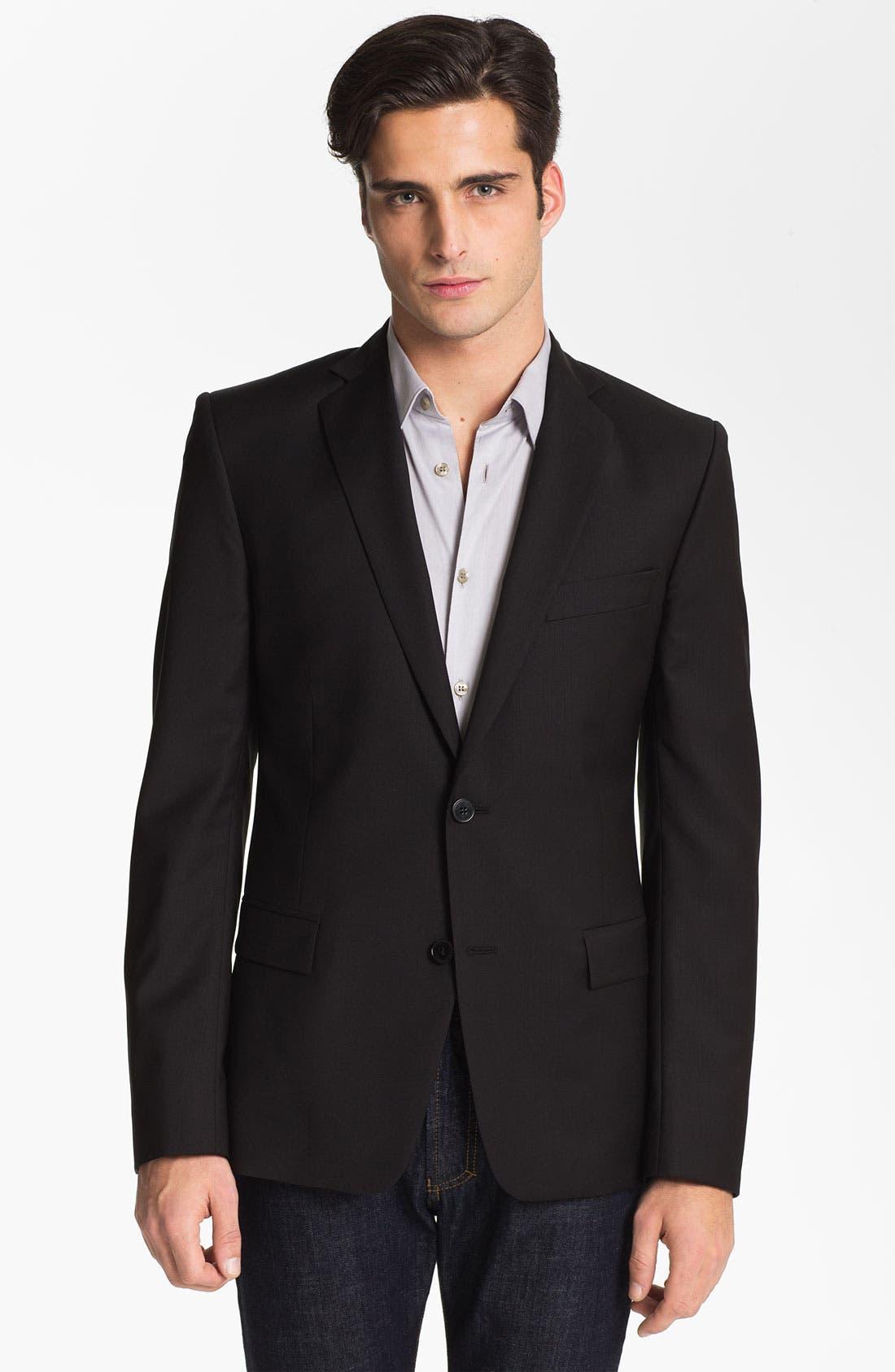 Main Image - Versace Trim Fit Wool Blend Blazer (Online Only)