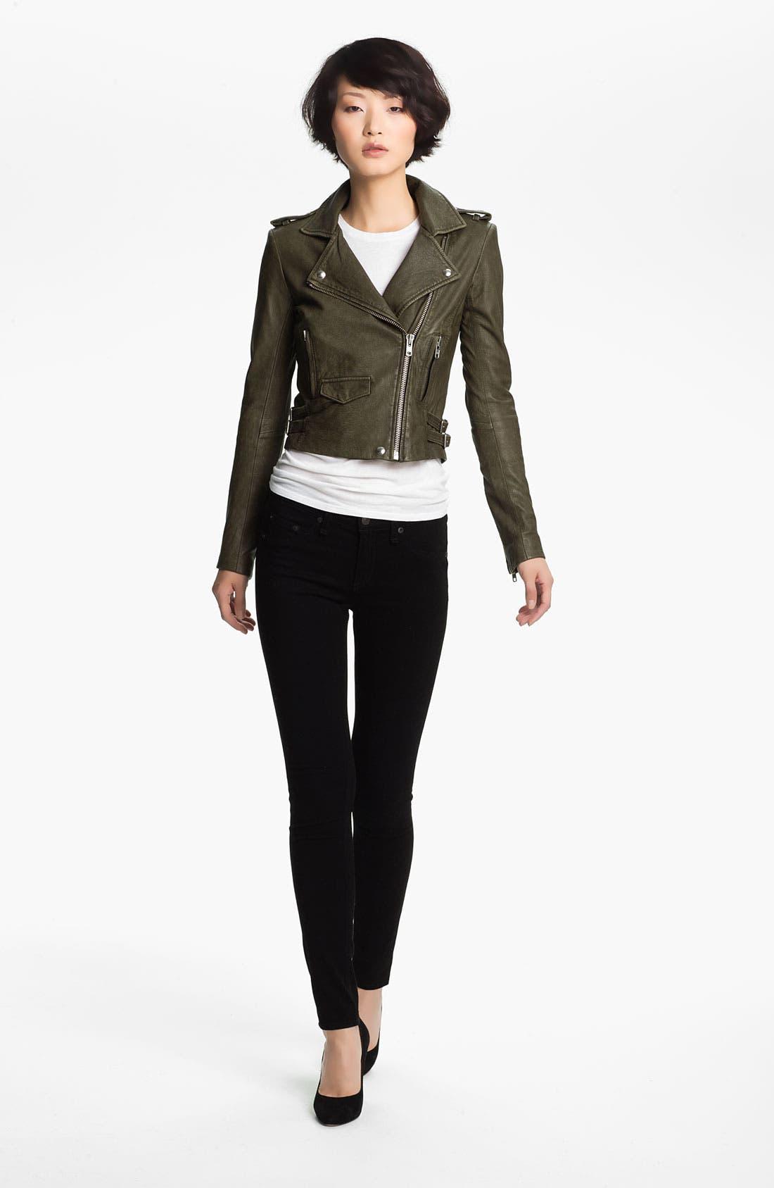 Alternate Image 3  - IRO 'Ashville' Lambskin Leather Moto Jacket