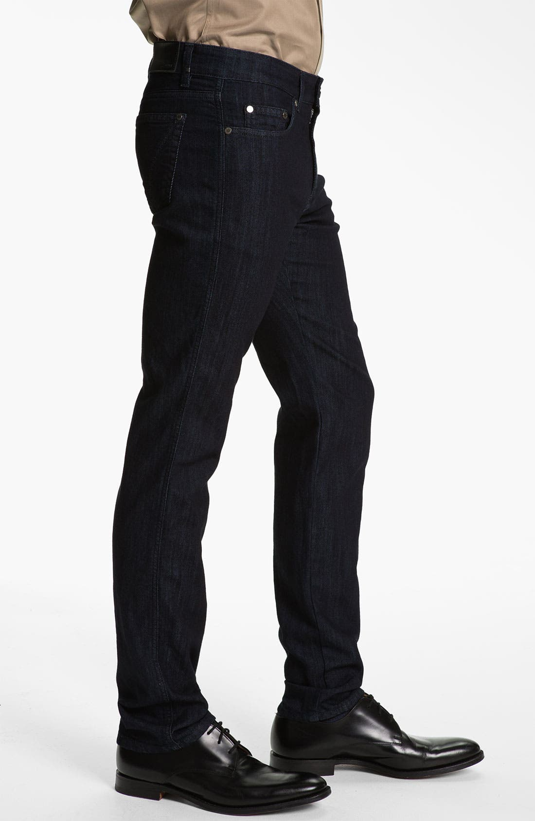 Alternate Image 3  - Z Zegna Straight Leg Jeans (Black)