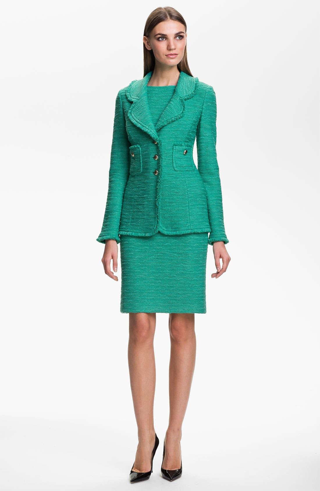 Alternate Image 3  - St. John Collection 'New Shantung' Sheath Dress