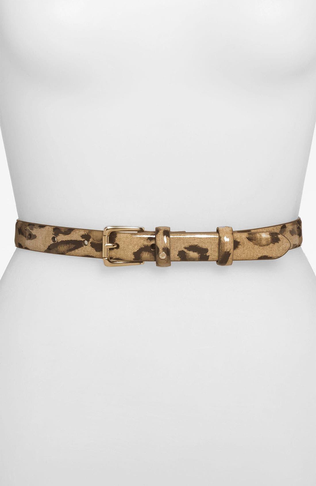 Main Image - Lauren Ralph Lauren Leopard Print Belt