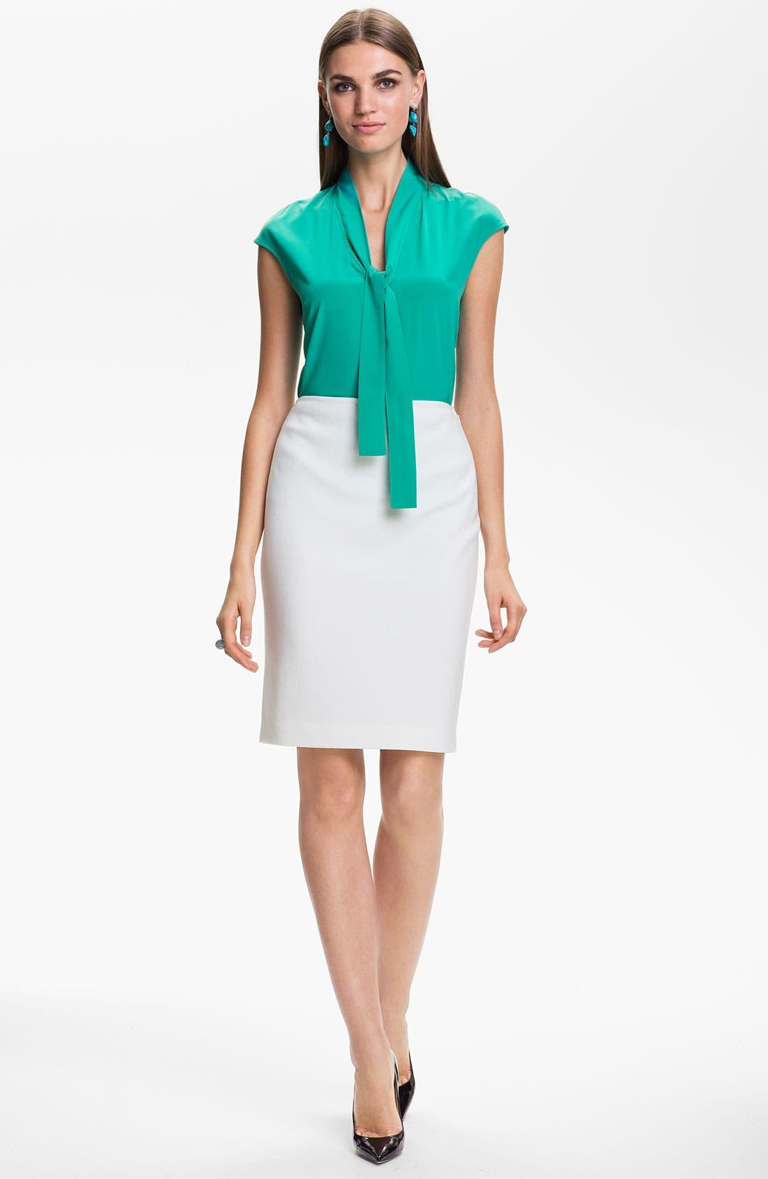 Main Image - St. John Collection Milano Knit Pencil Skirt
