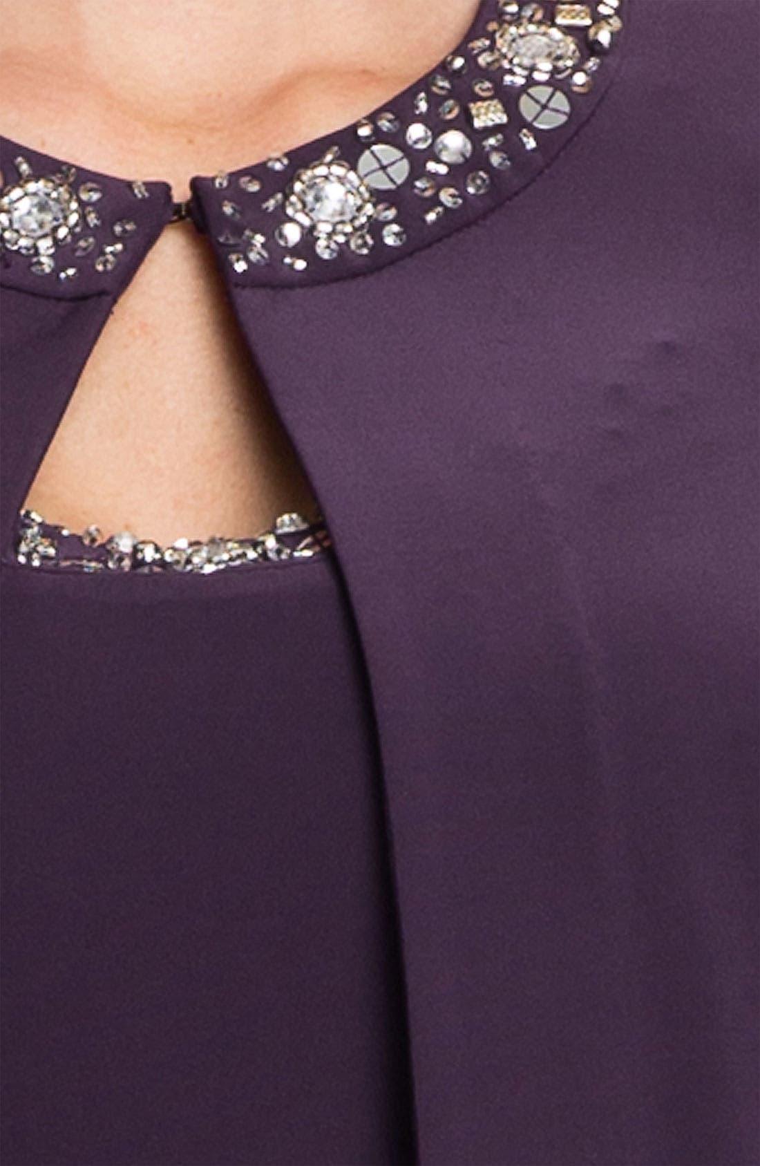 Alternate Image 3  - Alex Evenings Beaded Jersey Dress & Jacket