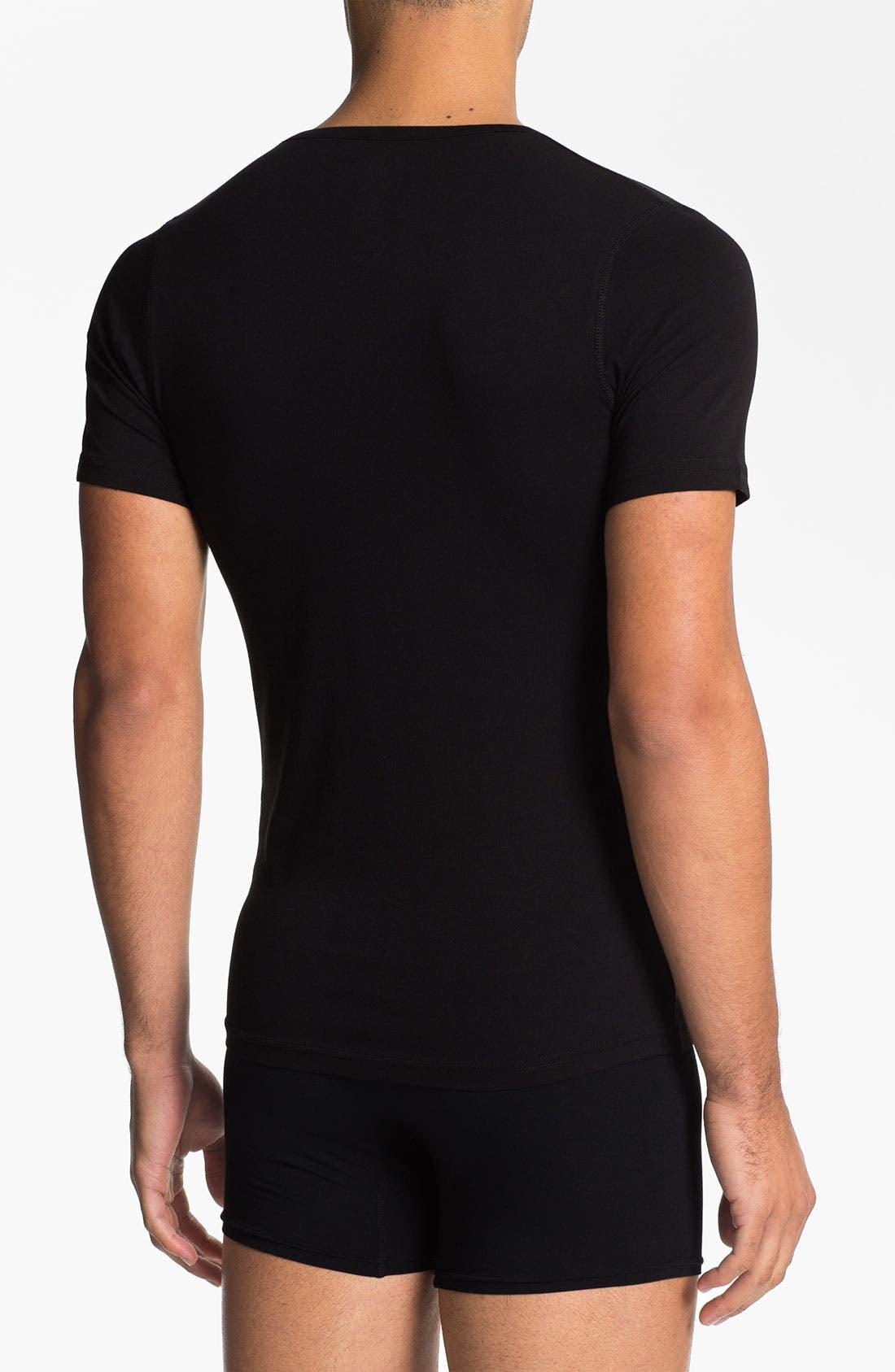 Alternate Image 2  - Naked V-Neck Cotton Undershirt