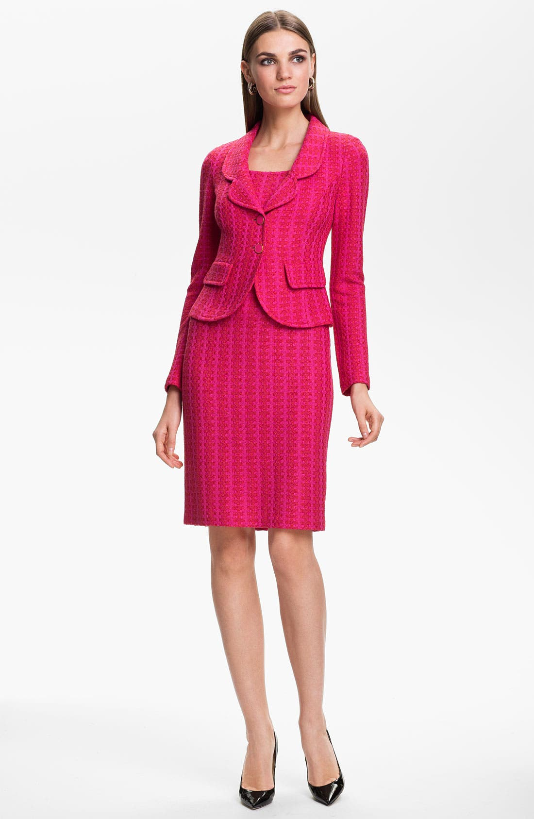 Alternate Image 3  - St. John Collection 'Mid-Century Tweed' Sheath Dress