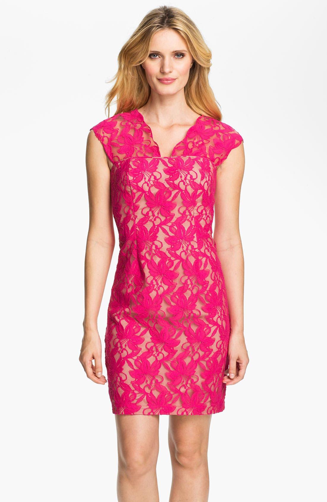 Main Image - Donna Ricco Lace Sheath Dress