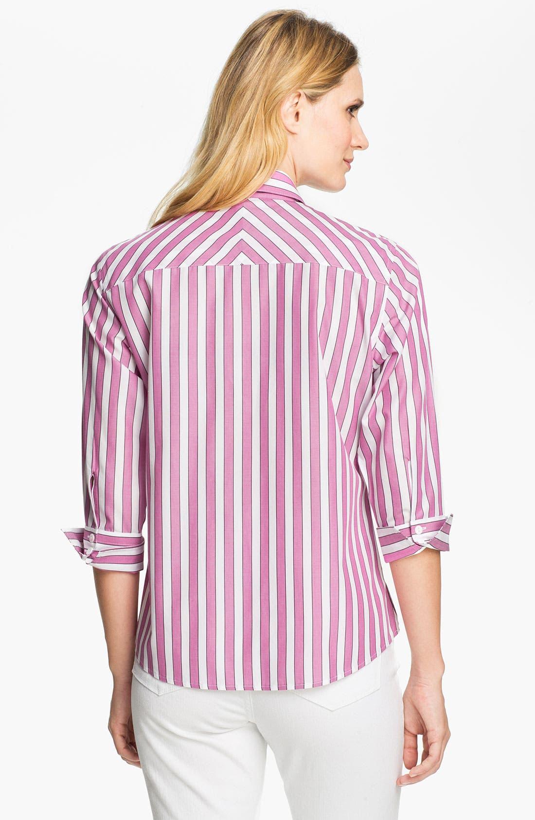 Alternate Image 2  - Foxcroft Bold Stripe Shirt