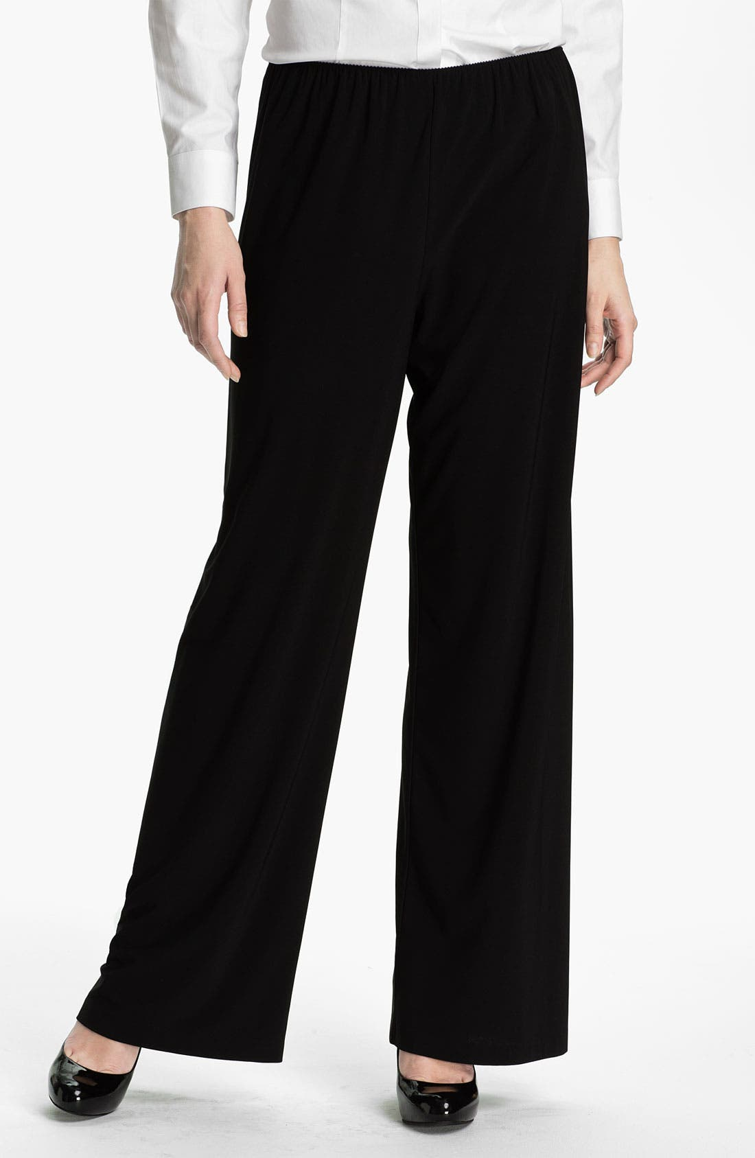 Main Image - Alex Evenings Straight Leg Jersey Pants