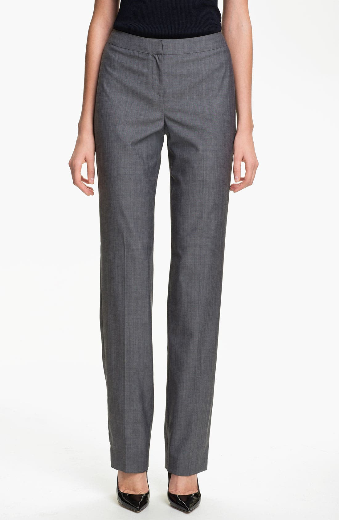 Alternate Image 1 Selected - St. John Collection 'Diana' Straight Leg Mélange Wool Pants