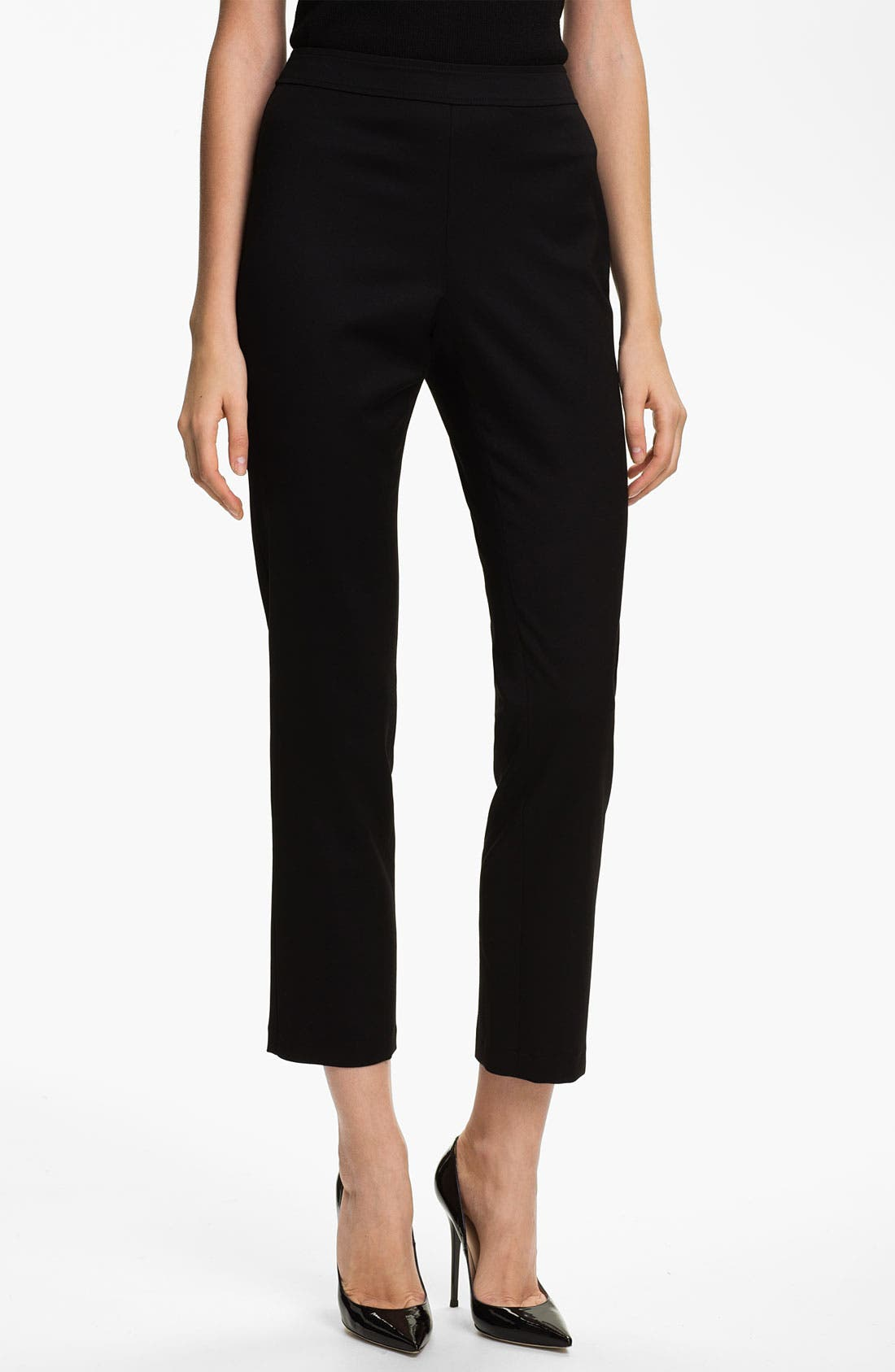Main Image - St. John Collection 'Alexa' Stretch Venetian Wool Ankle Pants