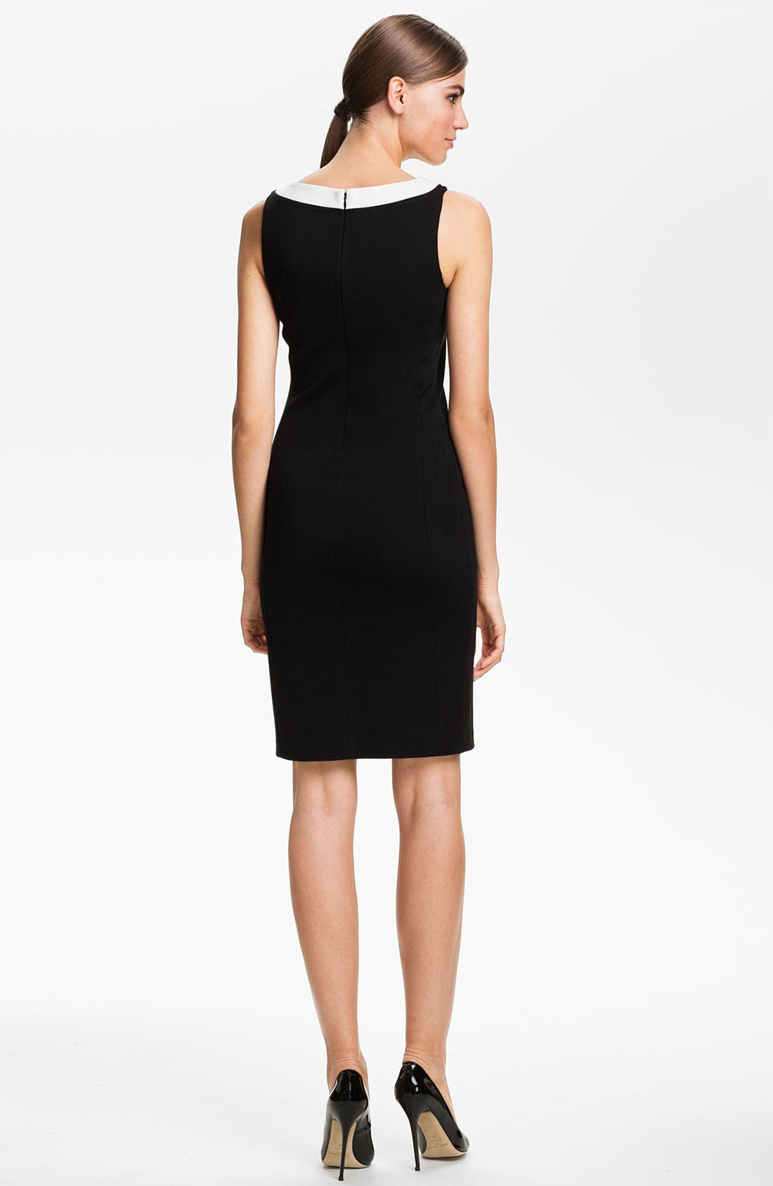 Alternate Image 2  - St. John Collection Wrap Front Milano Knit Dress