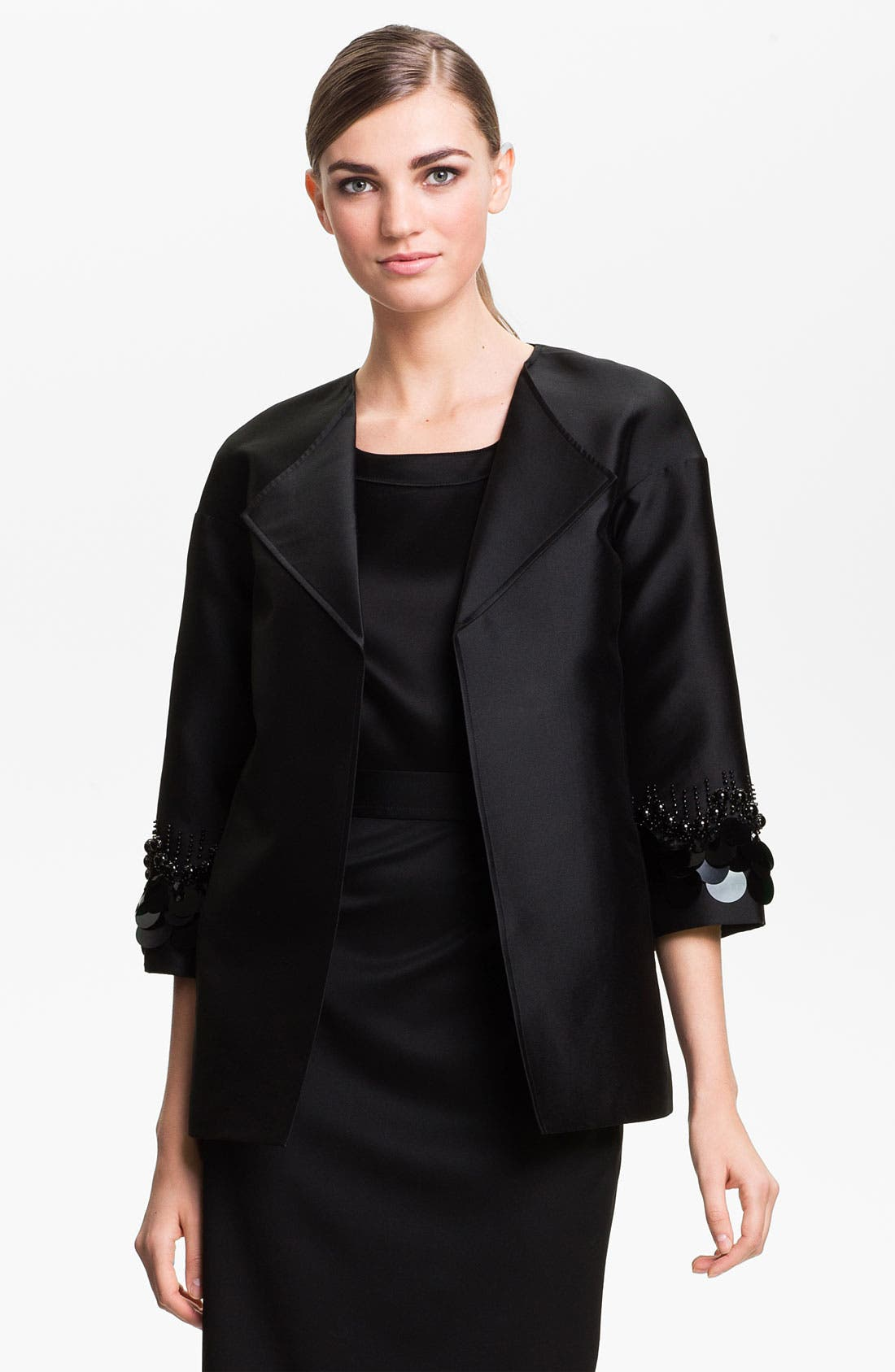 Main Image - St. John Collection Sequin Embroidered Mikado Jacket