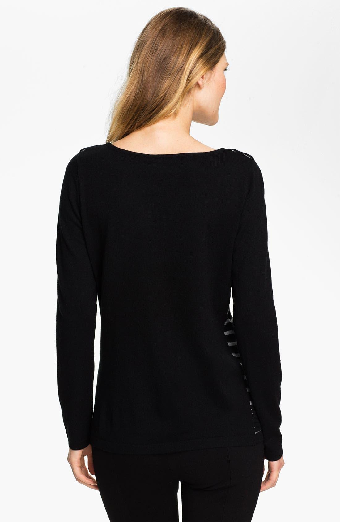 Alternate Image 2  - Beatrix Ost Stripe & Pleat Sweater (Online Exclusive)