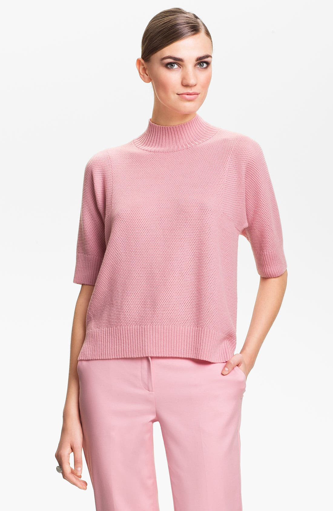 Alternate Image 1 Selected - St. John Yellow Label Mini Popcorn Knit Sweater