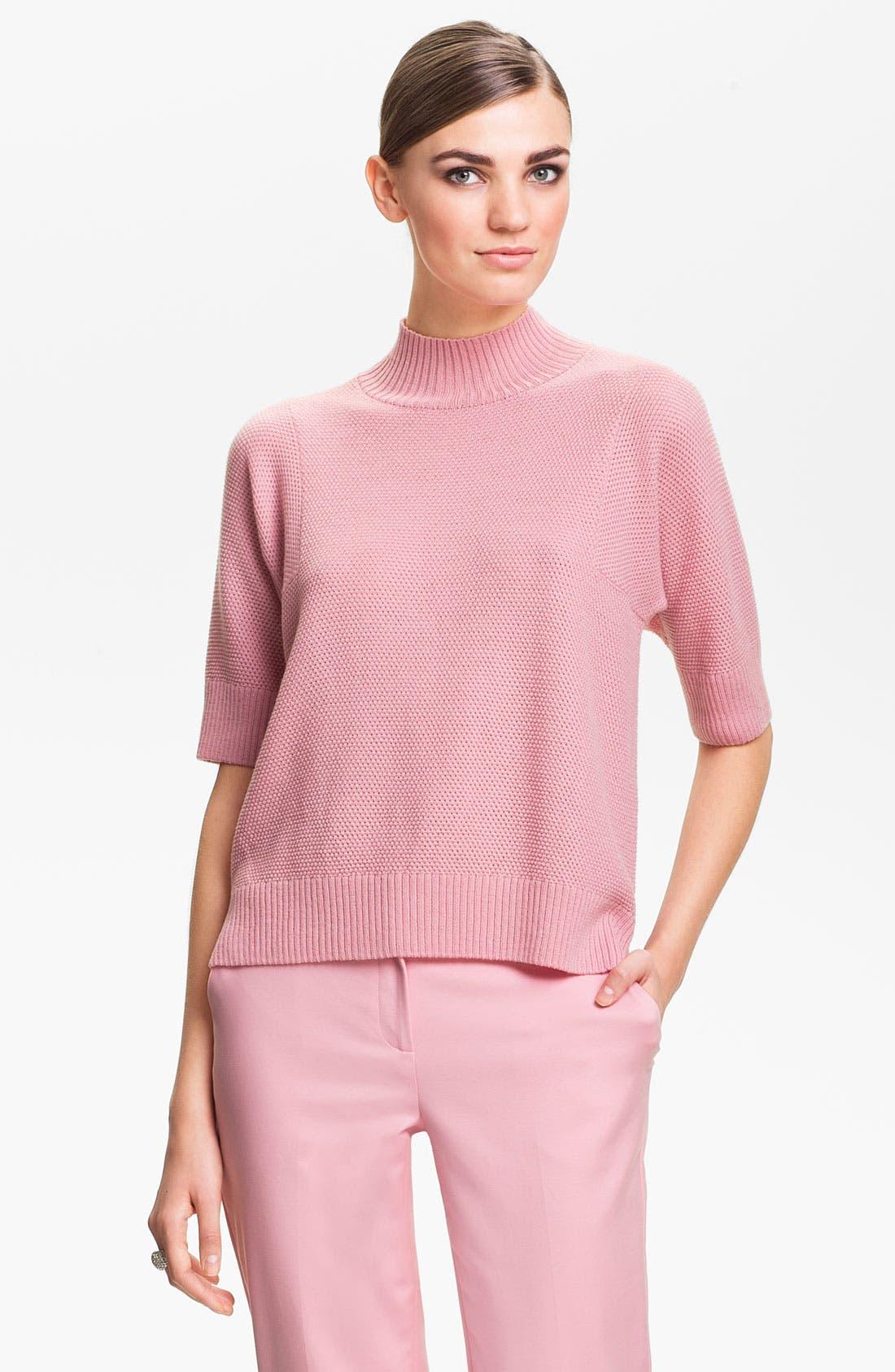 Main Image - St. John Yellow Label Mini Popcorn Knit Sweater