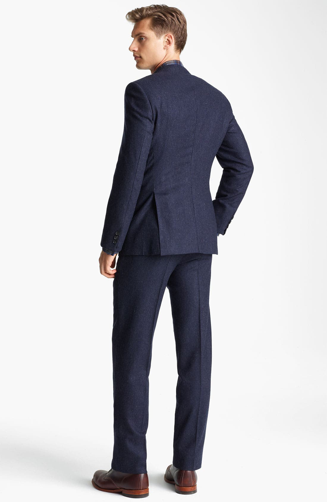 Alternate Image 3  - Billy Reid 'Campbell - Heirloom Collection' Chalk Stripe Wool Suit