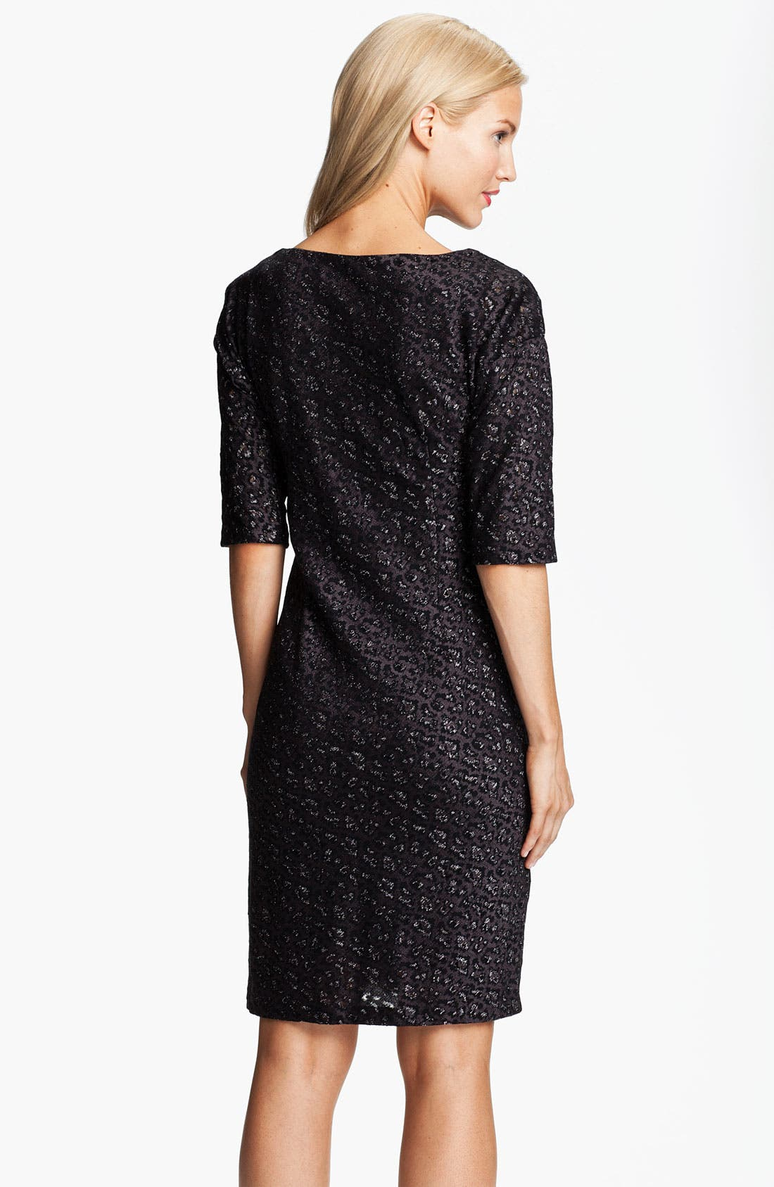 Alternate Image 2  - Adrianna Papell Cowl Neck Metallic Jacquard Dress