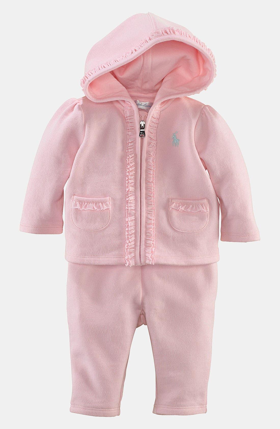 Main Image - Ralph Lauren Hoodie & Pants (Infant)