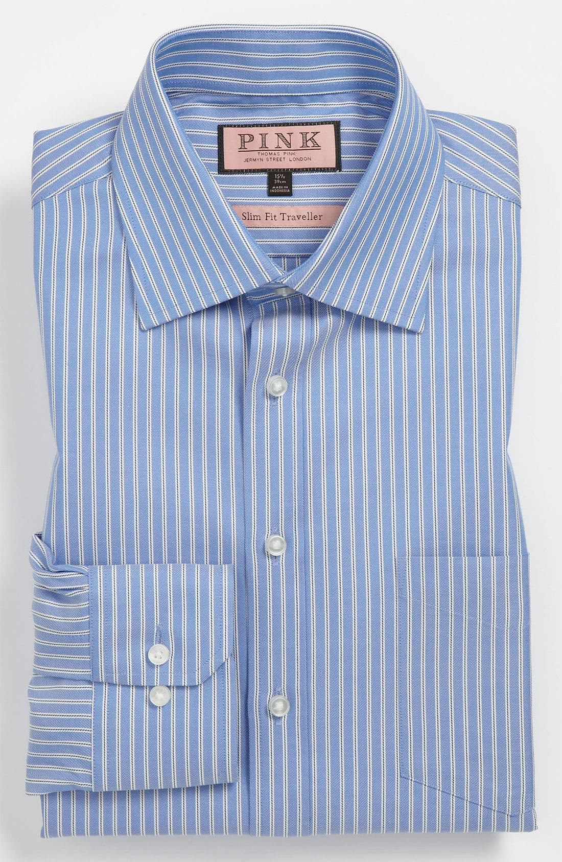 Main Image - Thomas Pink Slim Fit Traveller Dress Shirt