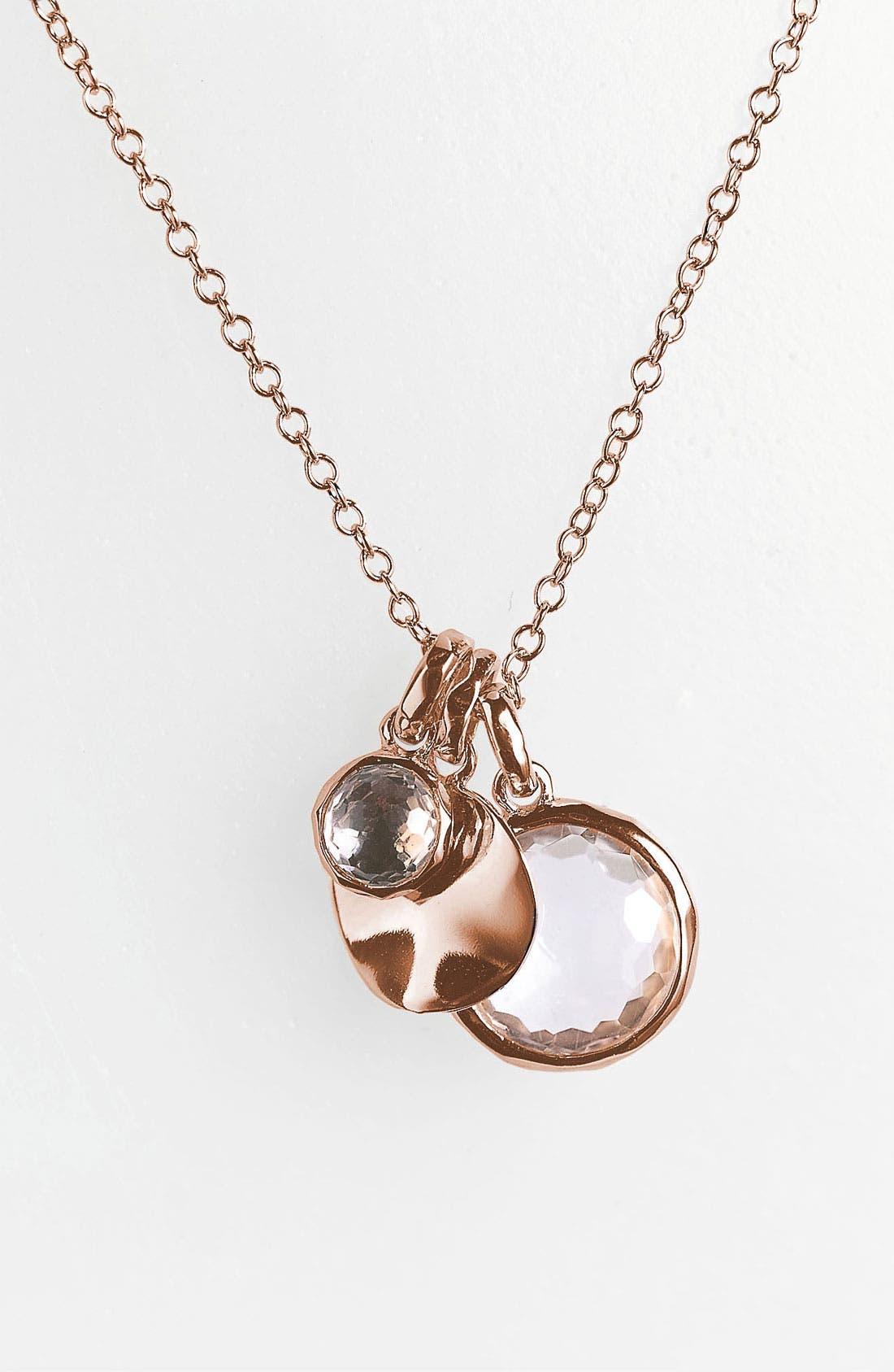 Alternate Image 2  - Ippolita 'Rock Candy' Rosé Triple Charm Necklace