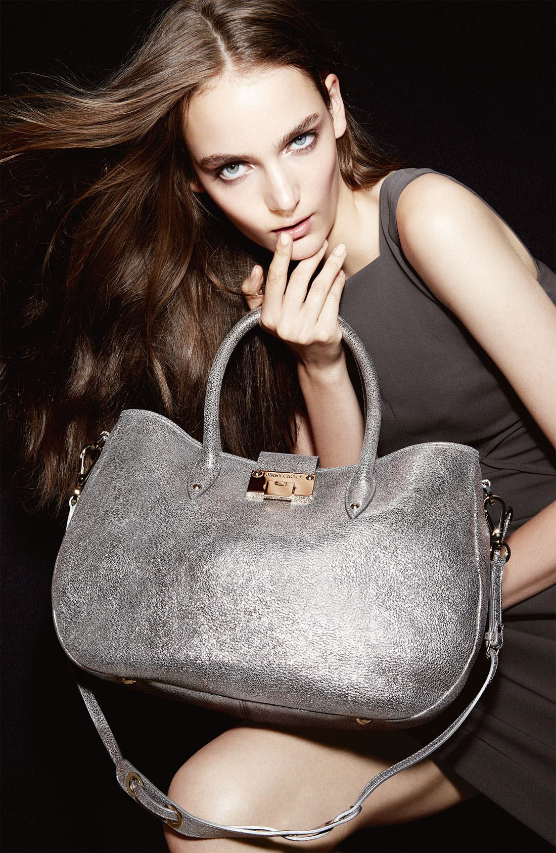 Alternate Image 5  - Jimmy Choo 'Rania' Glitter Leather Satchel