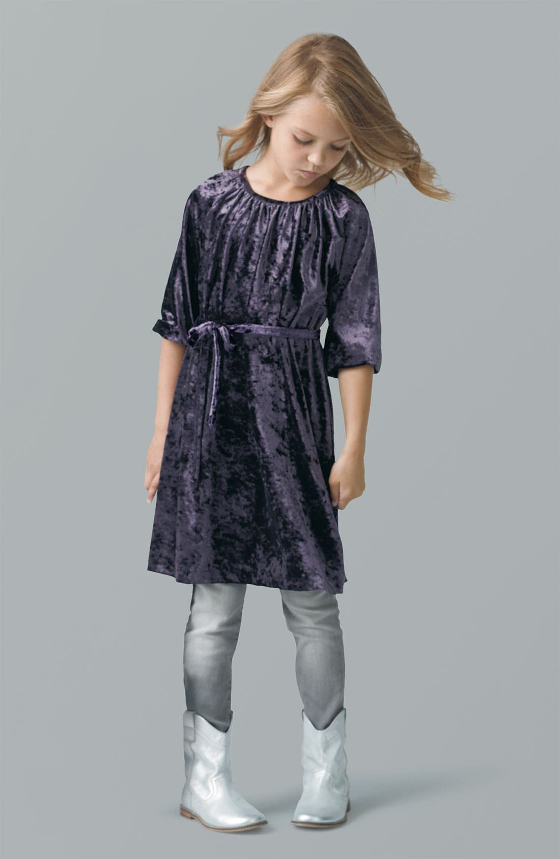 Alternate Image 1 Selected - Peek Dress & Jeans (Toddler, Little Girls & Big Girls)