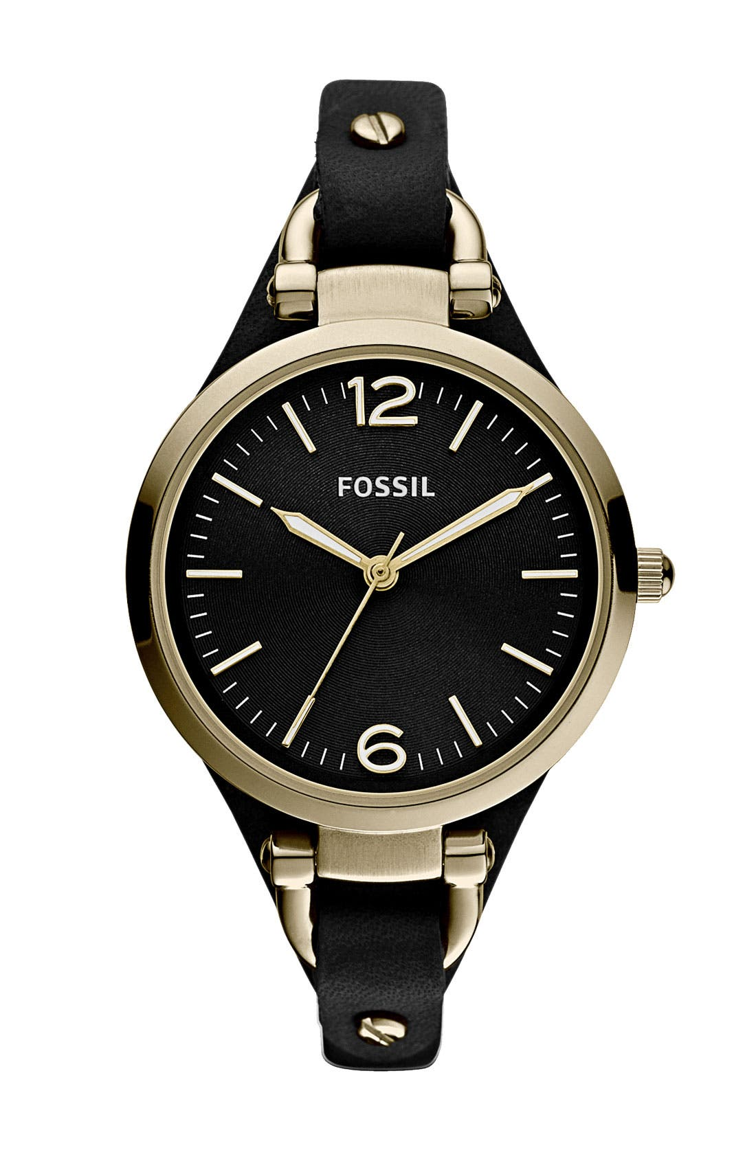 Alternate Image 1 Selected - Fossil 'Georgia' Leather Strap Watch, 32mm