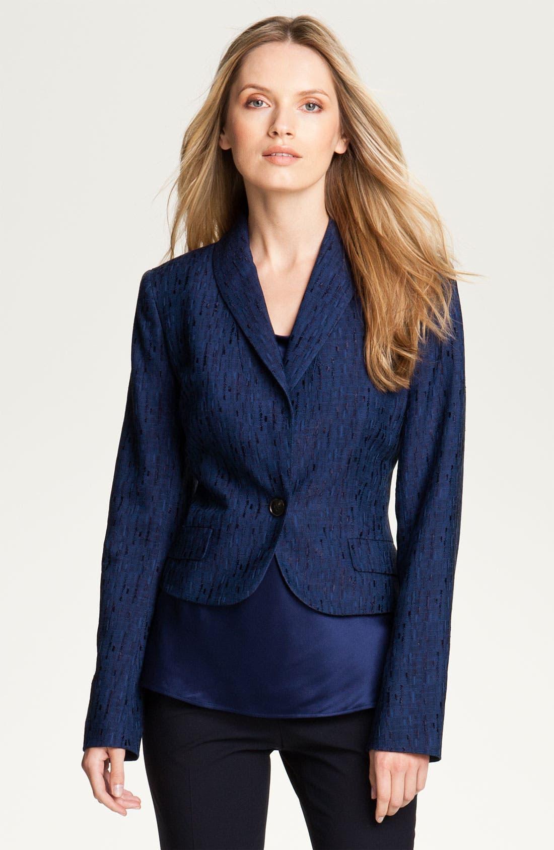 Alternate Image 1 Selected - Lafayette 148 New York 'Sublime Texture' Jacket (Petite)